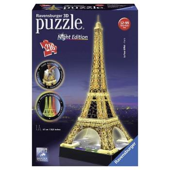 Tour Eiffel con Luce 3D -...
