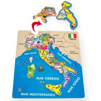 Puzzle  legno  Italia-  Lena