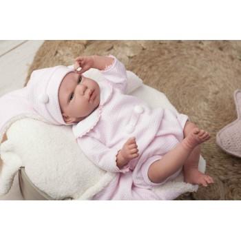 Bambola Reborn Raquel Rosa-...