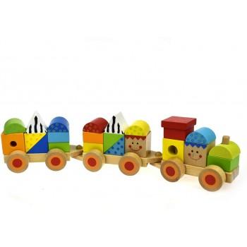 Treno  Cubi  Colorati in...