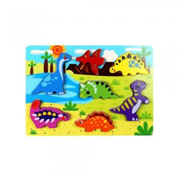 Puzzle  Dinosauri  in Legno...