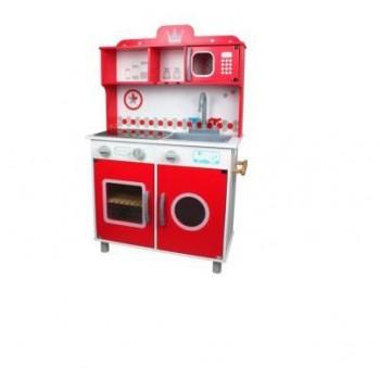 Cucina  Legno  Rossa  -...