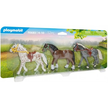 70683  3  Pony  -  Playmobil
