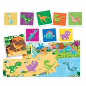 Puzzle Dinosauri 8+1 - Headu