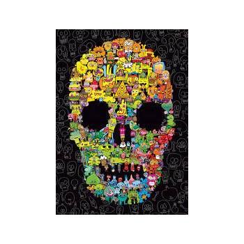 1000  pz   Doodle  Skull  -...