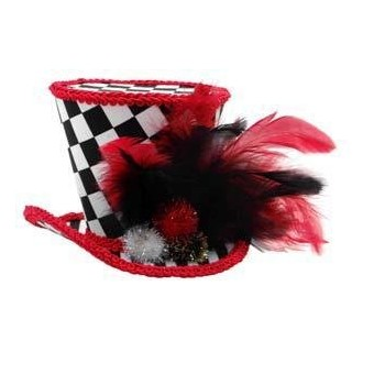 Cappellino Quadri Rosso -...