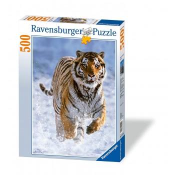 500 pz. Tigre nella Neve -...
