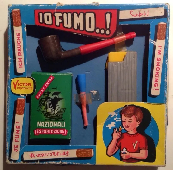 Io fumo! un giocattolo che doveva insegnare ai bambini a fumare